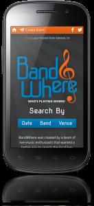 Bandwhere on Mobile Phone