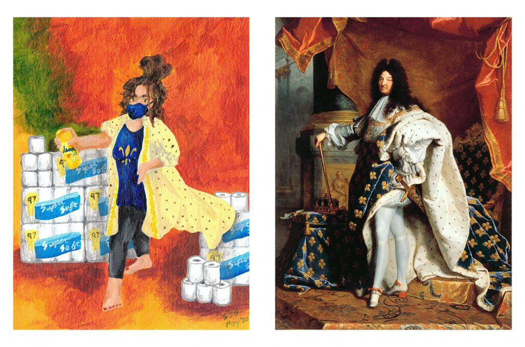 COVID Queen compared to King Louis XIV