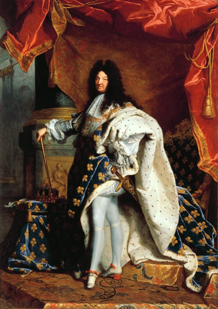Painting of King Louis XIV by Hyacinthe Rigaud